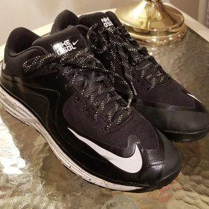 Men's Nike Lunar MVP Trainer Black White Cleats
